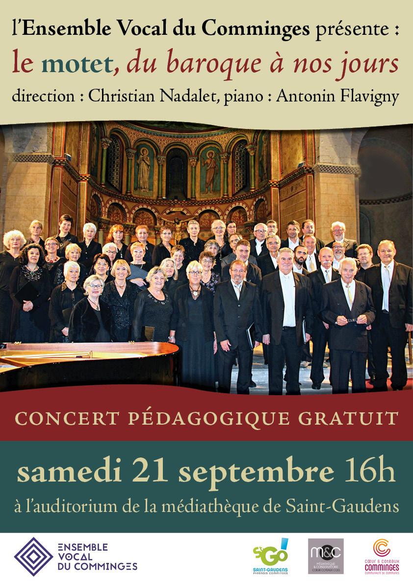 Concert pédagogique à St Gaudens 21 septembre 2019
